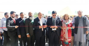 Inauguration of DiceTextiles by Ms Rubina Wasti (Sr Joint secretary Mintex), Mian Muhammad Latif (CEO Mintex) and Dr. Arshad Ali (Executive Dierctor HEC)
