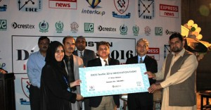 Ms Madiha Jabbar First Crestex Innovation Prize winnner