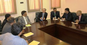 Meeting with delegation of Sialkot Chamber for establishment of NTU campus in Sialkot