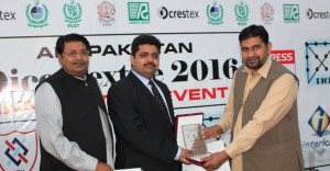 Token of thanks to Mr. Farhan Latif Convener of Jury for selection of prize winners.