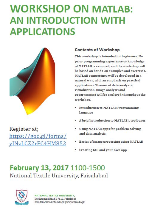 Workshop on MATLAB: An Introduction with Applications| NTU