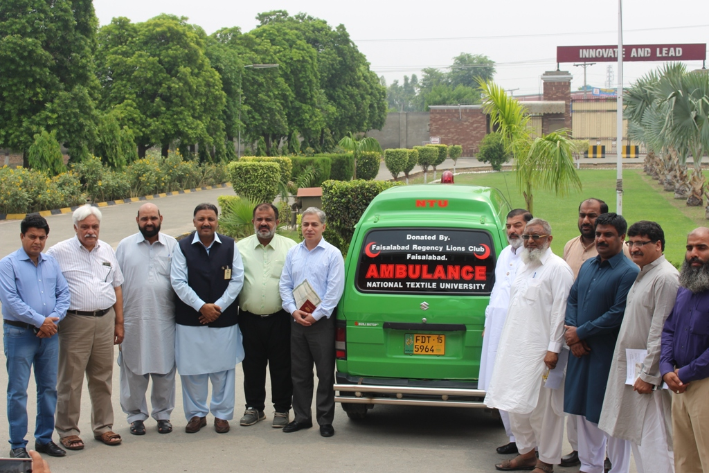 Haji Manzoor Ahmad, Project Chairperson of Protex World Wide, Pakistan FNC Donated an Ambulance