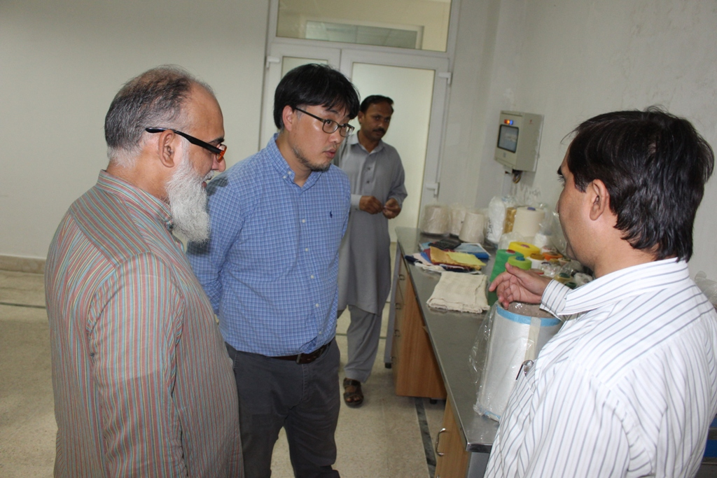 A delegation consisting of two members from Dong Wong Roll, Co visited  National Textile University