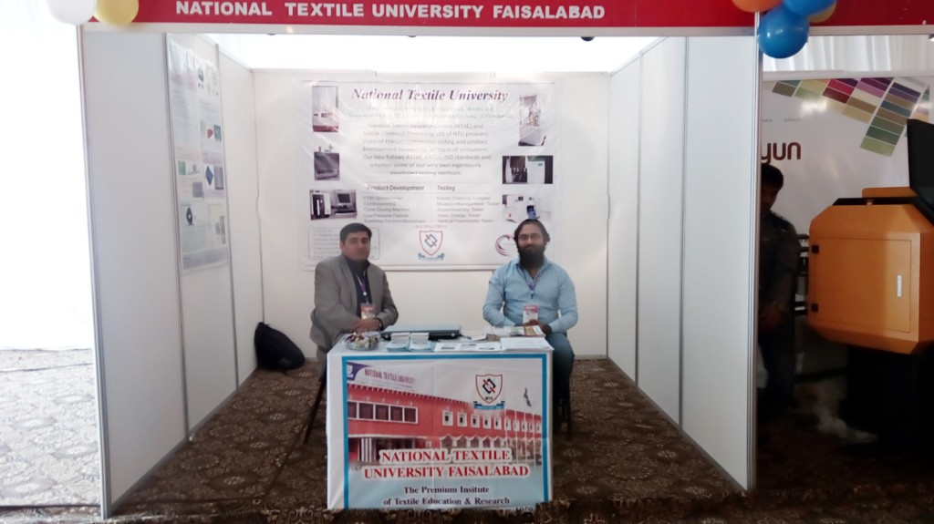 Stall of NTU at 2nd Color & Chem Expo 2016, Faisalabad