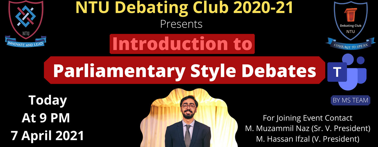 Introduction to Parliamentary Style Debates